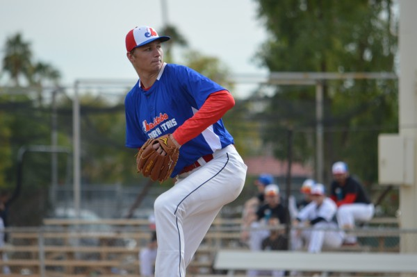 Manitoba North Stars' pitcher Jake Pintar - photo by Tim Dutton